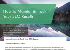 Monitor and Track SEO Results