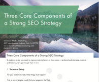 Three Core Components of a Strong SEO Strategy